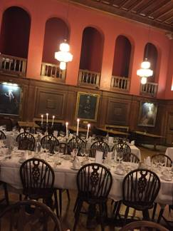 The dining hall where we had our meals was very like the great hall at Hogwarts. The walls were lined with portraits of the past presidents of the college- all women!