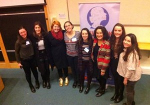 Myself and the girls from Trinity College Dublin with the organiser of the conference Professor Daniela Bortoletto.