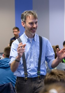 Our lecturer Dr. Conor Sweeney – his enthusiasm for Maths is infectious!