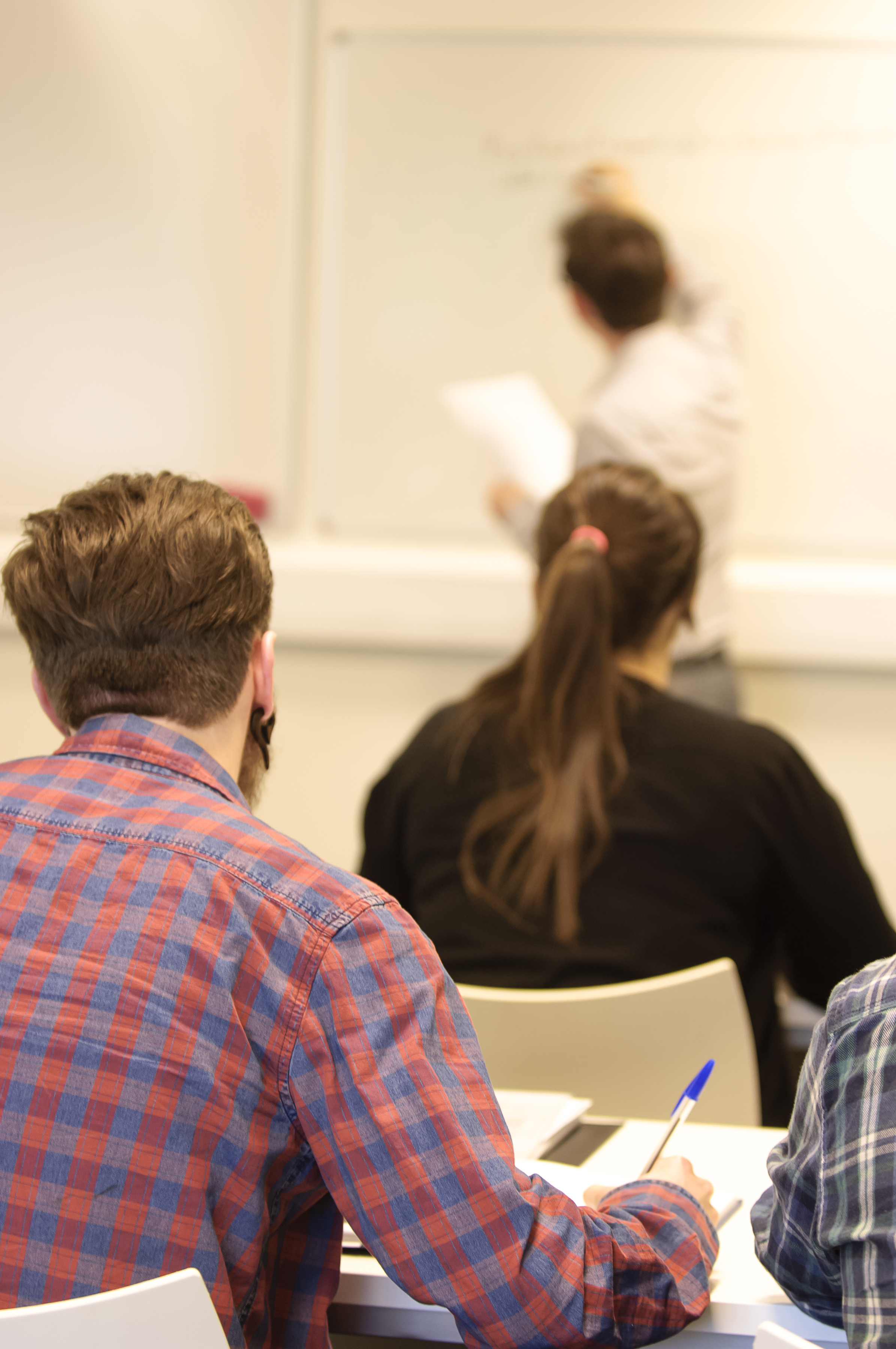 A sample photo in the classrooms we use for tutorials in Mathematics - much smaller than lecture theatres!