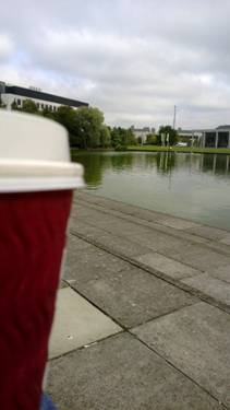 First coffee on campus, man it was tasty!