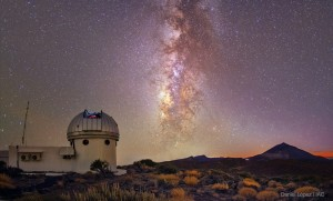 Teide Observatory and the Milky Way