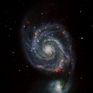 An example of an observation of the galaxy M51 from Teide Observatory by a past student – it's so pretty! Field Trip