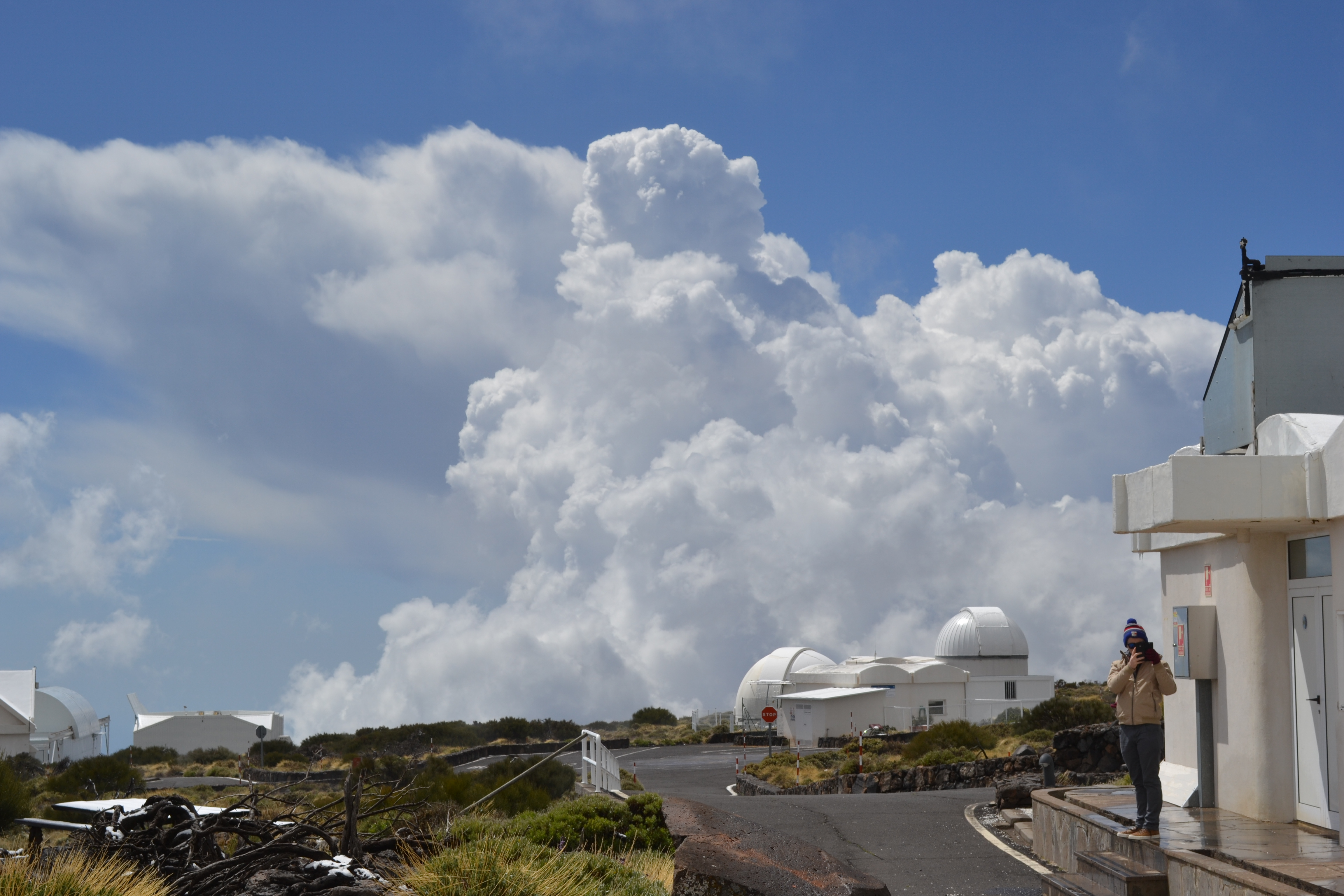 Astronomy Field Trip: We were literally in the clouds – surrounded by all of these amazing telescopes!