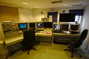 Astronomy Field Trip: The telescope control room – here each of us used the different screens to control the telescope