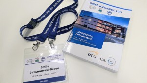 My nametag and conference programme