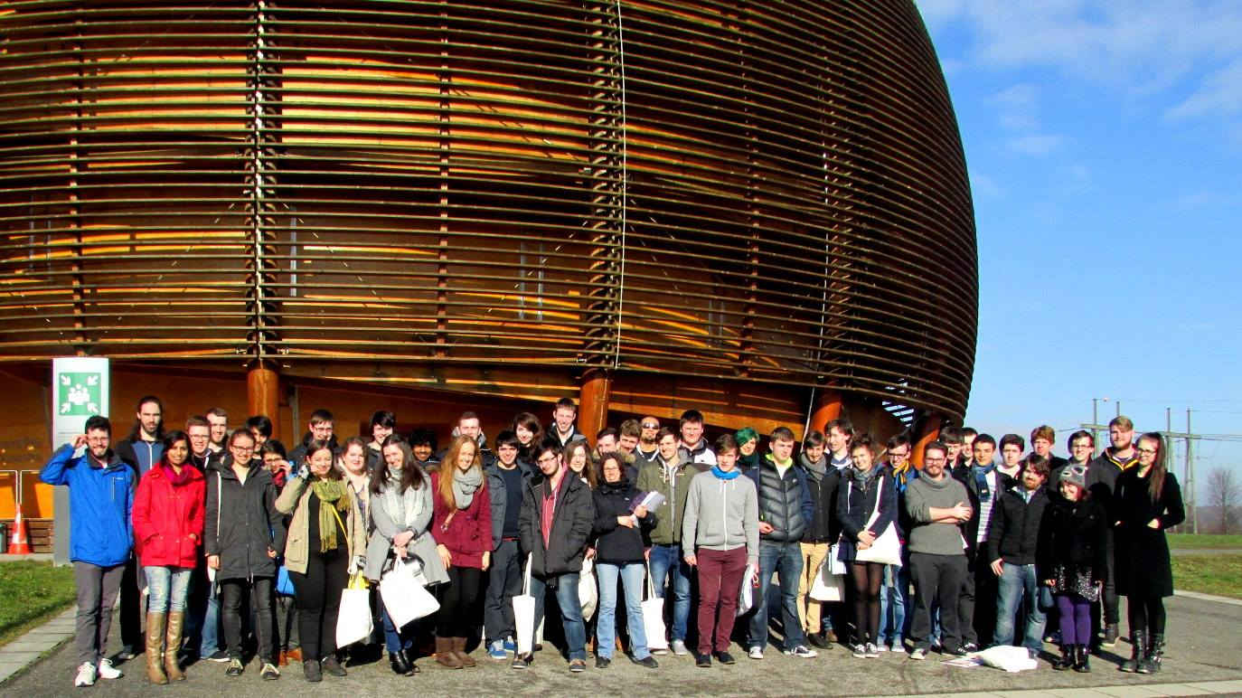 60 of us went on the UCD Physics Society trip to CERN in Geneva – here I met so many students from different years
