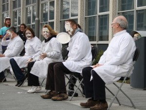 The UCD Science Society run loads of fun events – like 'Pi the Lecturer' on Science Day