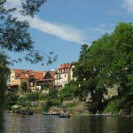 Our Vltava canoeing trip views