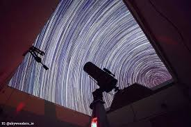 UCD's Watcher robotic telescope in Boyden Observatory, South Africa. The gorgeous star trails were taken by Dr. Antonio Martin-Carrillo.