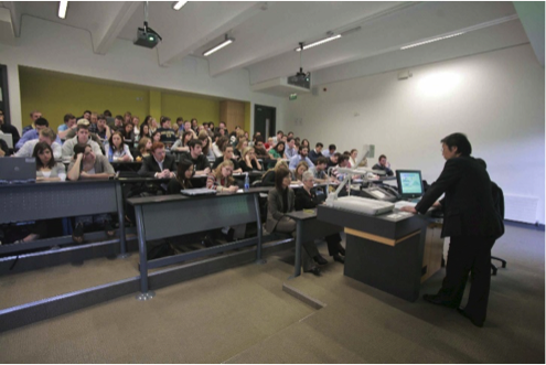 View of a commerce lecture in quinn